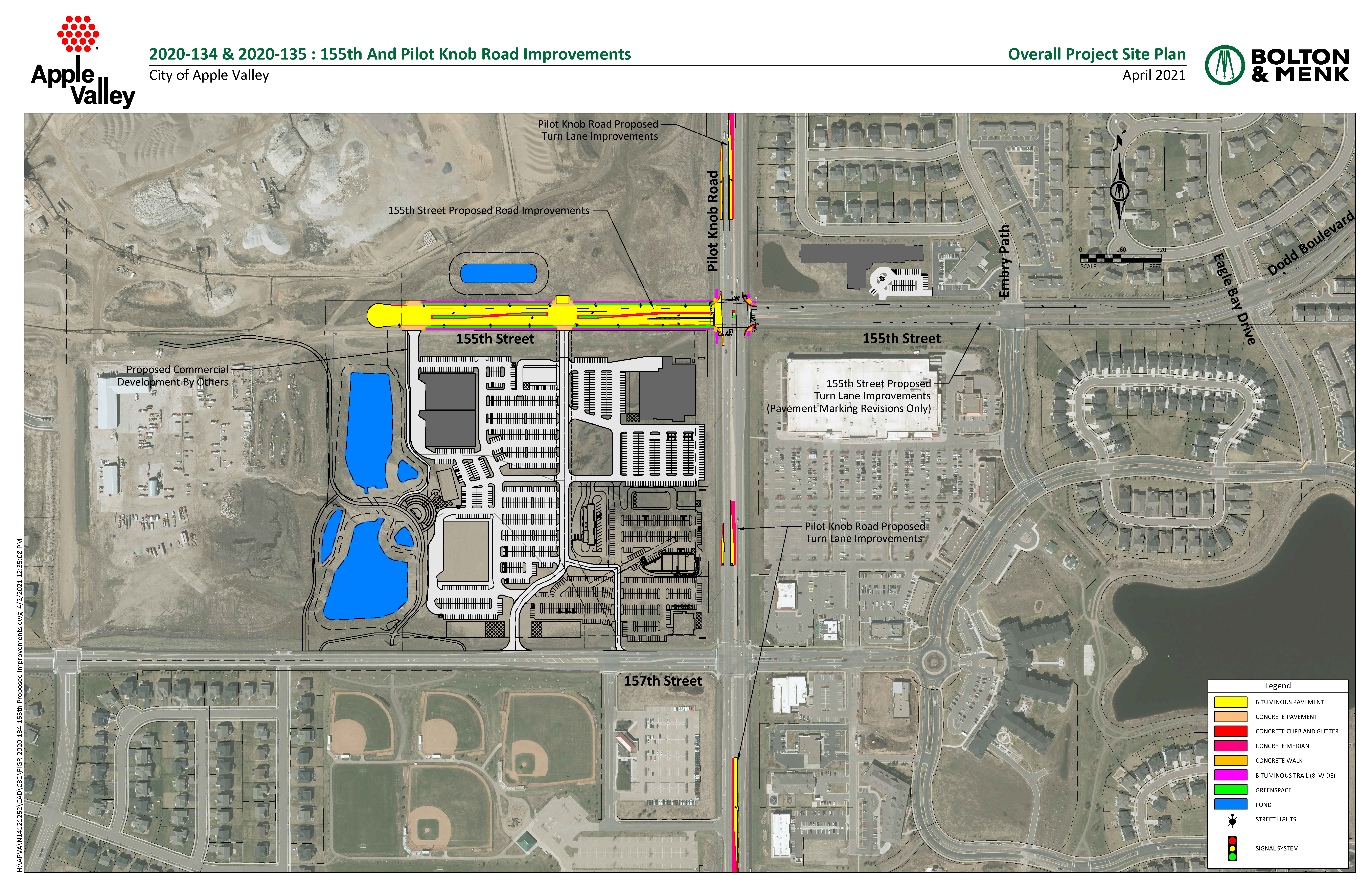 Map of the project improvements