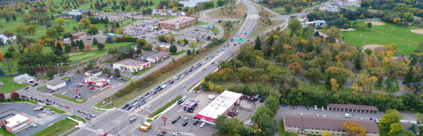 The project will reduce corridor delays by 75% and reduce crashes by 57%, addressing frequent congestion shown here.